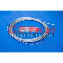 Трос d=4 мм, металлический, в оплетке, для сетки волейбольной, 12,5 м