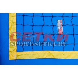 Сетка для пляжного волейбола, 1 м* 8,5 м, обшитая с 4-х сторон,  Д 3,1 мм