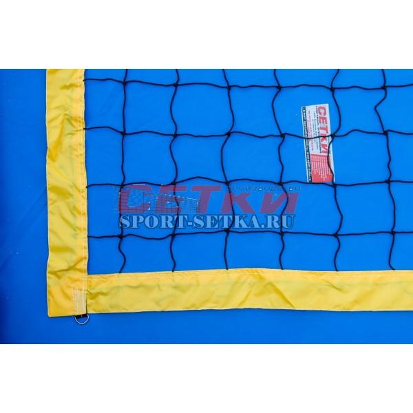 Сетка для пляжного волейбола, 1 м* 8,5 м, обшитая с 4-х сторон,  Д 3,5 мм