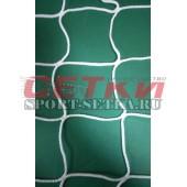 Сетка футбольная,  Д 4,0 мм, (7,5 м * 2,5 м * 1,5м * 1,5м), БЕЗУЗЛОВАЯ